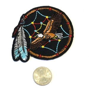 Accessories - Eagle Patch Dream Catcher iron on feather badge